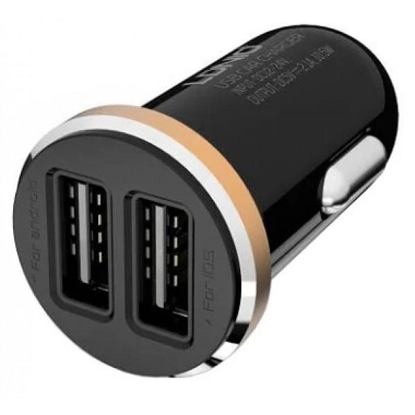 Автомобильная зарядка LDNIO DL-C22 + Micro USB/Lightning