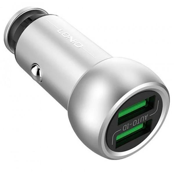 Автомобильная зарядка LDNIO С401+ Micro USB/Lightning