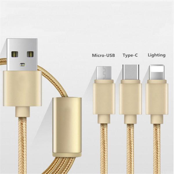 Кабель USB 3в1 micro/usb/type-c Celebrat CB-04