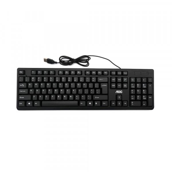 Проводная клавиатура и мышь AOC KM160