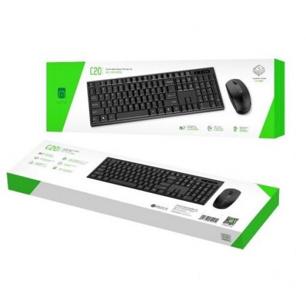 Беспроводная клавиатура и мышь Metoo C20