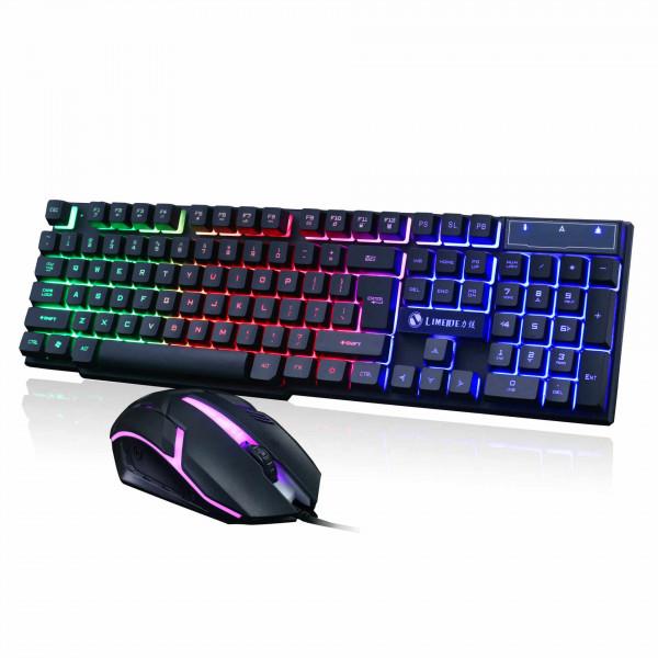 Проводная клавиатура и мышь LIMEIDE GTX 300 с подсветкой